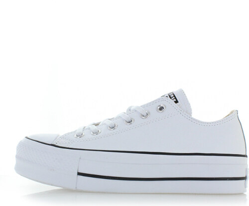 c3a6a403c4113 Converse Dámske biele nízke kožené tenisky Chuck Taylor All Star Lift