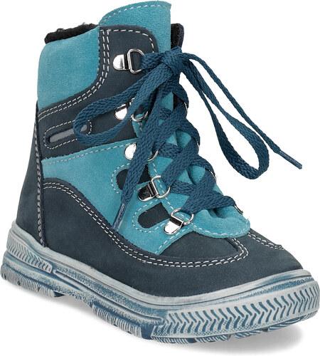 a8bf9ee36 Mini B Modrá detská kožená členková obuv - Glami.sk