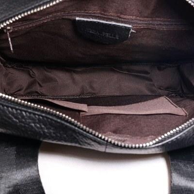 7f2dd162d27fb Talianske kožené kabelky pánske cez plece veľké čierne Vilas - Glami.sk