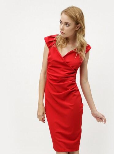 220f03353 Červené puzdrové šaty s prekladaným výstrihom ZOOT - Glami.sk