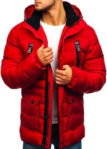 5e72e3d39 Červená pánska zimná bunda BOLF 48884 - Glami.sk