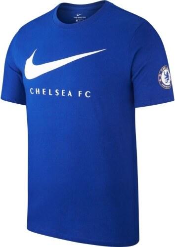 be20d8b83a904 Nike FC Chelsea pánske tričko 18 swoosh blue - Glami.sk