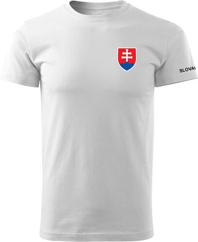 05654668b1554 O&T krátke tričko malý farebný slovenský znak, biela 160g/m2 - Glami.sk