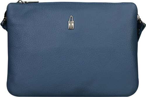 5cd2200af WOJEWODZIC Kvalitné stredné luxusné kožené kabelky crossbody aj do ruky  modré 31510