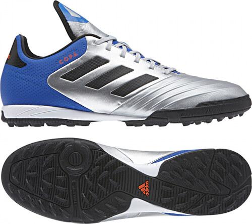 ddaa0ea22f819 Pánske kopačky turfy adidas Performance COPA TANGO 18.3 TF (Strieborná /  Čierna / Modrá)