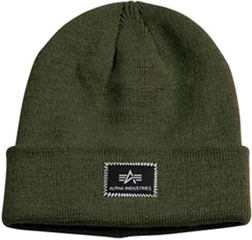 4a8fe32e2 Zimná čiapka Alpha Industries X-Fit Beanie Dark Green - Glami.sk