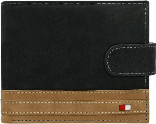 7f56b5539 Čierno-hnedá pánska kožená peňaženka RFID v krabičke WILD - Glami.sk