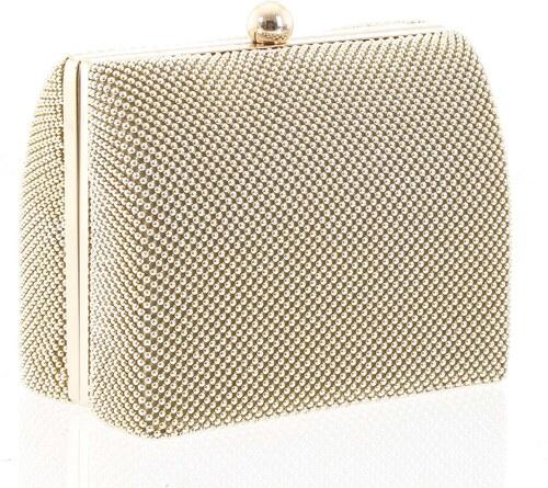 f182ea9ee Hlbšia dámska perleťová listová kabelka zlatá - Delami V4042 zlatá ...