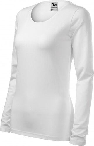 721ab0c11811c ČistéOblečenie.sk Jednofarebné Dámske tričko priliehavé s dlhým rukávom, Dlhý  rukáv, slim fit