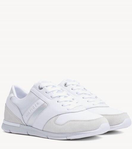 c307968c75bd7 Tommy Hilfiger biele tenisky Iridescent Light Sneaker White/Silver ...