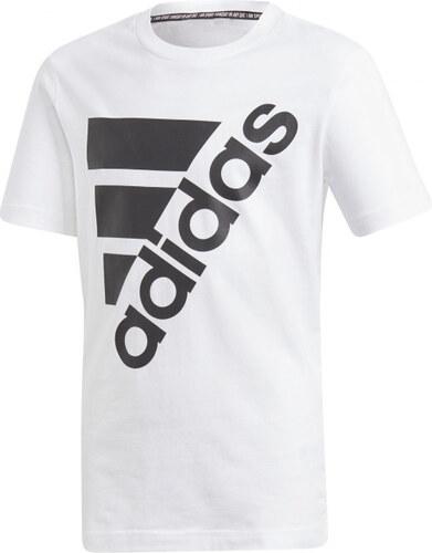 f2f93f9d2 Chlapčenské tričko adidas Performance YB MH BOS T2 (Biela / Čierna ...