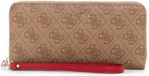 GUESS peňaženka Vikky Around Zip Wallet hnedá, 11557000