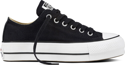 e8909c4de Converse čierne tenisky na platforme Chuck Taylor All Star Lift Ox  Black/White