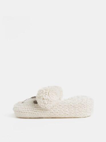 037db1734 Krémové pletené papuče v tvare myši v darčekovom balení Something Special