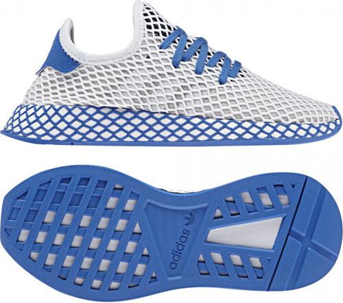 548af9761 Detské tenisky adidas Originals DEERUPT RUNNER J (Biela / Modrá ...