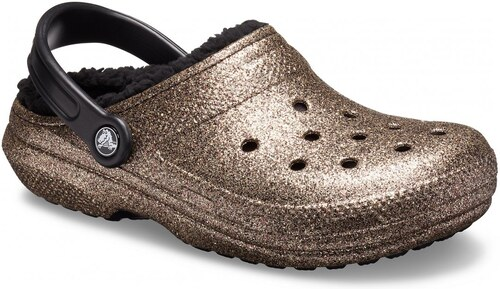 tania wyprzedaż Nowa kolekcja za kilka dni Crocs bronzové topánky Classic Glitter Lined Clog Gold/Black ...