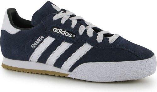 312c54a5557bc adidas Samba Suede Junior Indoor Football Trainers Blue/White - Glami.sk