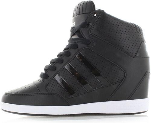 c798cbeb96d71 adidas NEO Dámske čierne platformové tenisky ADIDAS Super Wedge ...