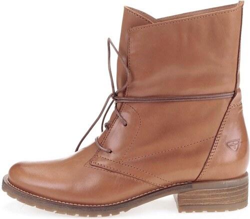 92be3a853 Hnedé kožené topánky na šnurovanie Tamaris - Glami.sk