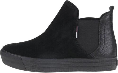 82f5cc840 Čierne dámske semišové chelsea topánky Tommy Hilfiger - Glami.sk