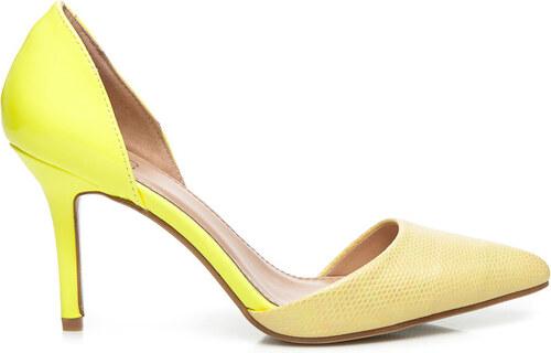 0c51fbaba2245 SERGIO TODZI žlté LODIČKY OMBRE - R161Y odtiene farieb: žltá - Glami.sk