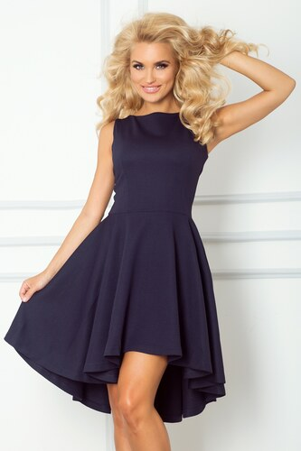 4065f2a3e Numoco Elegantné dámske šaty 66-1 modré - Glami.sk