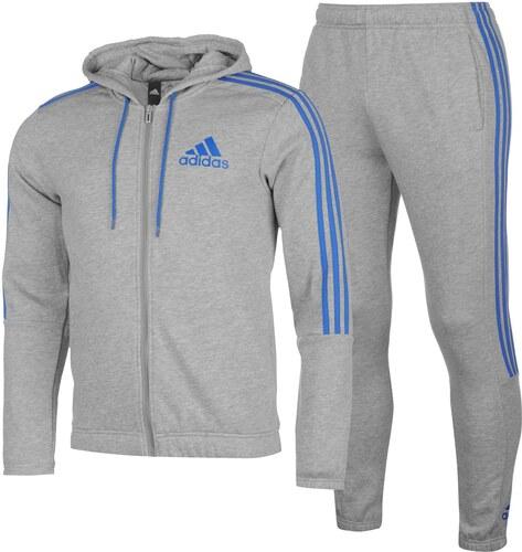 7548bebc2ef0a adidas Three Stripe Jogger Suit Mens MedGreyBlue - Glami.sk