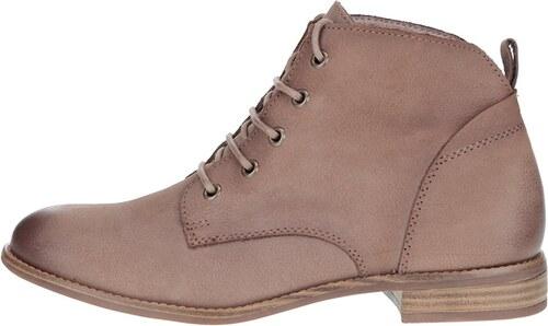 b0fafb347 Hnedé kožené členkové topánky na šnurovanie Tamaris - Glami.sk