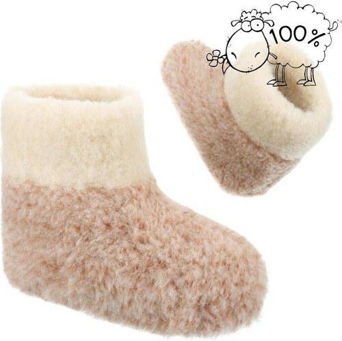 96648365e Teplé nazúvacie papuče na doma pre zimné obdobie UNIXES hnedé - Glami.sk