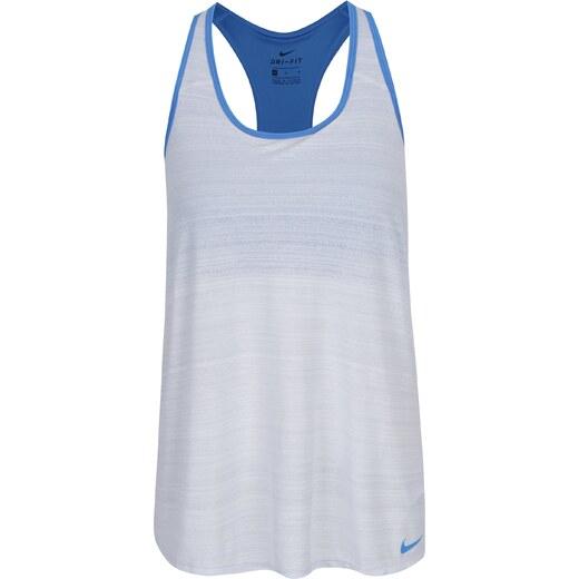 28f75a92bae5d Modro-krémové dámske funkčné tielko so všitou podprsenkou Nike - Glami.sk