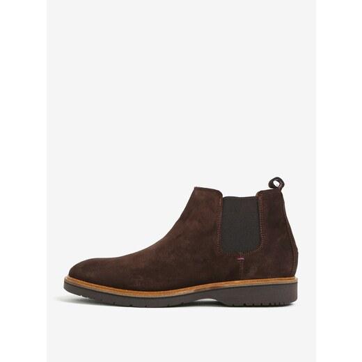 a025189a8 Tmavohnedé pánske semišové chelsea topánky Tommy Hilfiger - Glami.sk
