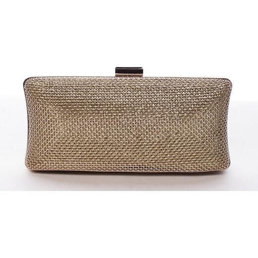 1b1303c75 Originálna dámska kovová listová kabelka zlatá - Delami Q655 zlatá -  Glami.sk