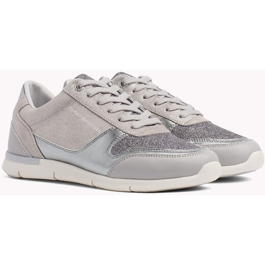 5adcf82b8d26a Tommy Hilfiger sivé tenisky Sparkle Light Sneaker Diamond Grey - Glami.sk