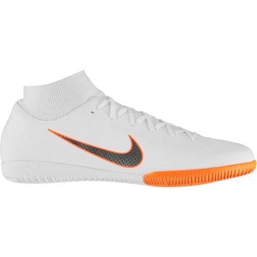 51e6d648aa5b8 Nike Mercurial Superfly Academy DF pánske futbalové halovky White/ChrOrange  - Glami.sk