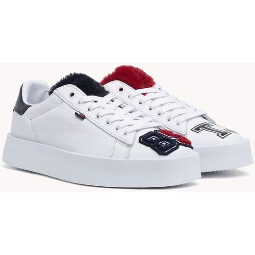 9131efaca9440 Tommy Hilfiger biele kožené tenisky Fun Retro Light Sneaker - Glami.sk