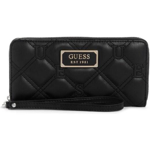 GUESS peňaženka Lolli Quilted Large Zip around Wallet čierna, 12124