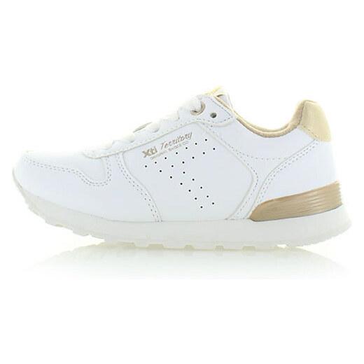 e6ac96fb8e364 Detské bielo-zlaté tenisky XTI 54634 - Glami.sk